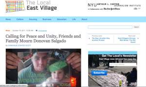 Calling for Peace and Unity, Friends and Family Mourn Donovan Salgado