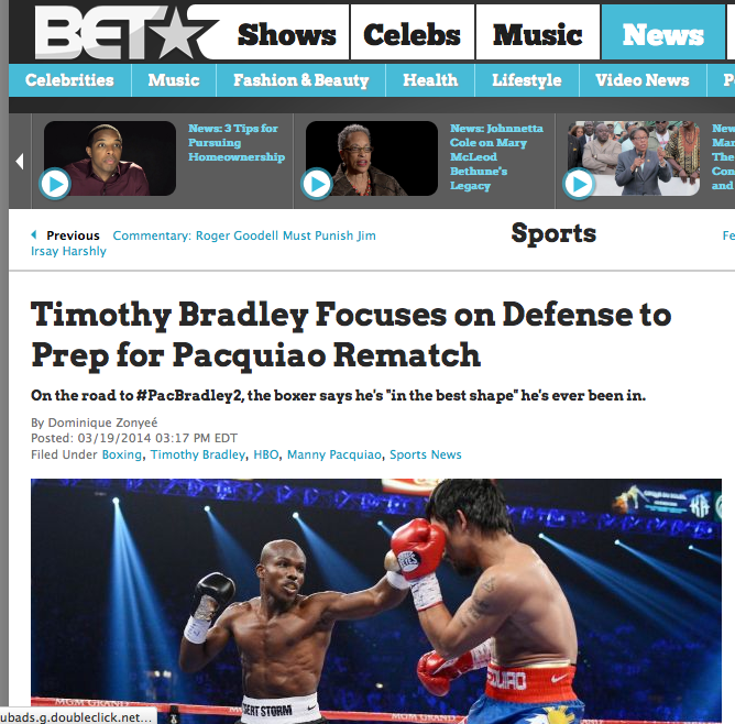 Timothy Bradley Focuses on Defense to Prep for Pacquiao Rematch