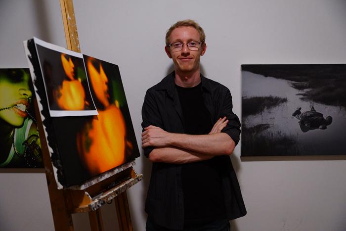 Corey Bond poses in his Brooklyn studio.