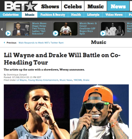 Lil Wayne and Drake Will Battle on Co-Headling Tour