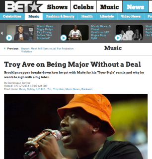 Troy Ave on Being Major Without a Deal