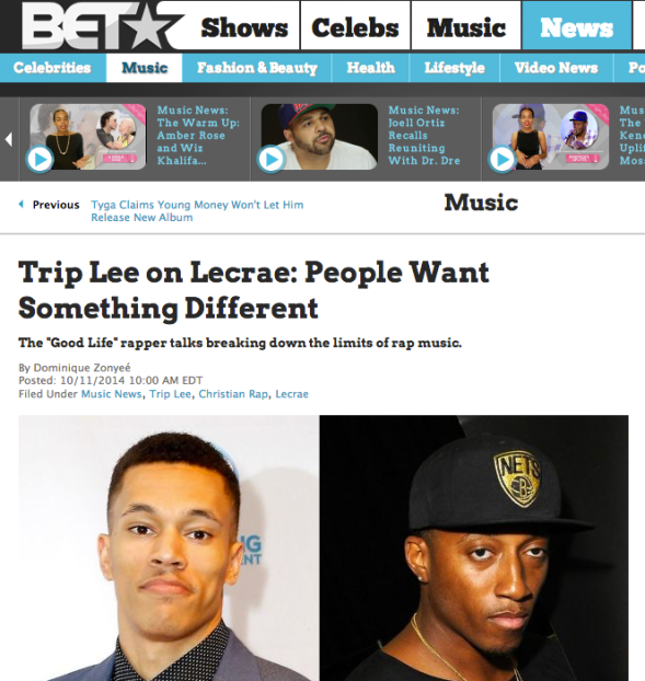 Trip Lee on Lecrae: People Want Something Different