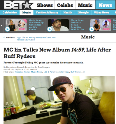 MC Jin Talks New Album 14:59, Life After Ruff Ryders