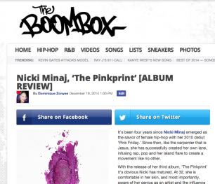 Nicki Minaj, 'The Pinkprint' [ALBUM REVIEW]