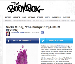 Nicki Minaj, 'The Pinkprint' [ALBUM REVIEW]